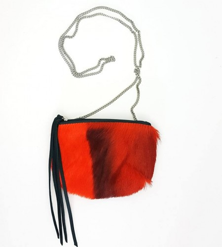 PURSE SPRINGBOK ORANGE / NOIR