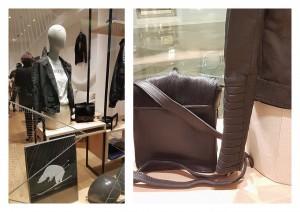 Le sac bandoulière Ines Camera Bag Noir, Edition limitée en vitrine à la Boutique SKOLA Marseille Terrasses du Port.
